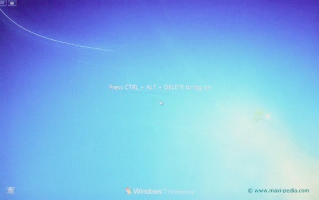 Windows 7 classic welcome screen