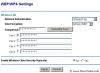 Wireless WEP/WAP settings