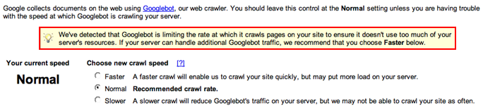 Google crawl rate